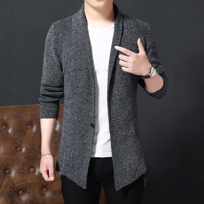 Thoshine Brand Spring Autumn Men Sweatercoats Knitted Jackets Solid Color Slim Fit Male Cardigan Outerwear Sweater Coat Knitwear