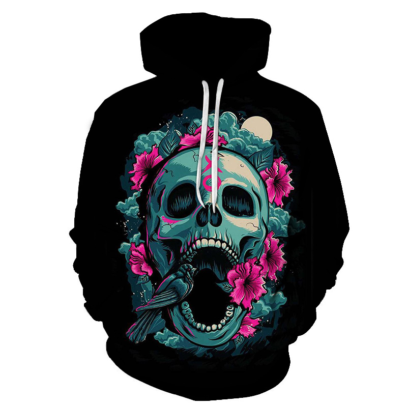 PINSHUN New Fashion Men/Women 3d Hoodies Metal Skulls Kiss Print Women Hooded Hoodies Thin 3d Sweatshirts Hoody Hip Hop Tops
