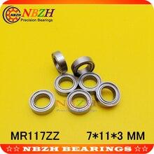 677ZZ MR117 MR117ZZ MR117RS MR117-2RS SMR117ZZ SMR117-2RS 677 677RSZZ RS RZ 2RZ шариковые подшипники с глубоким желобом 7*11*3 мм Высокое качество