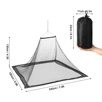 Lixada Camping Tent Ultralight Mosquito Repellent Mesh Net Two Person Outdoor Insect Bugs Shelter Pyramid Mesh Net Camping Tent