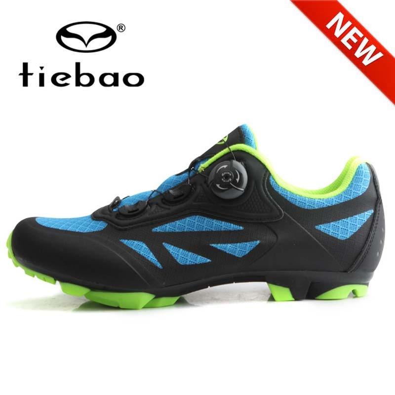 New Arrival! TIEBAO Men Cycling Shoes Breathable MTB Mountain Bike Shoes Bicycle RacingTriathlon Self-Locking Bike Sneakers