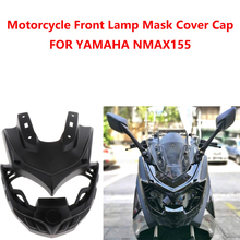 Motorcycle Headlight Fairing Mask Front Panel Cover Protector for Yamaha NMax 125 155 2015 2018 (Black)
