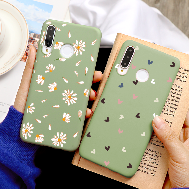 Avocado Green Phone Case For Huawei P40 Pro+ P30 P20 Honor 10 Lite 20I 10I 8X 30S P Smart Y6 Y7 Y9 Prime 2019 Covers Love Heart