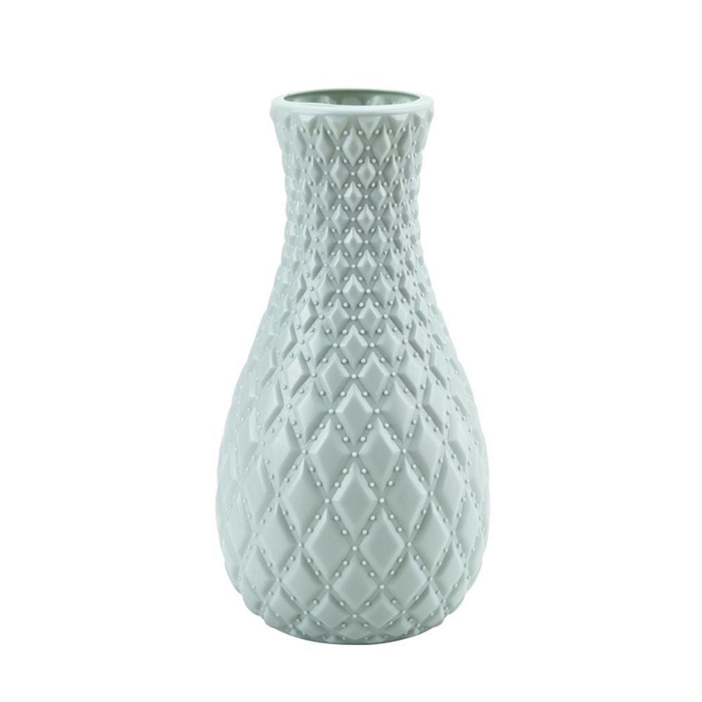 Скандинавском стиле Цветочная корзина ваза для цветов и рисунком в виде птичек-оригами Пластик ваза мини бутылка имитация Керамика украшение цветочный горшок для дома - Цвет: RL1267D