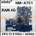 Для Lenovo 310-15ISK 510-15ISK 510 310-15IKB ноутбук материнская плата NM-A751 Процессор i3 6100U/6006U GPU GT940M /920 м испытание 100% работа