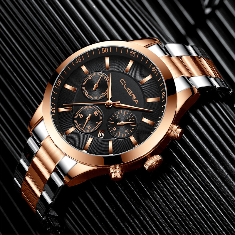 Men Watch Fashion Luxury Stainless Steel Quartz Wristwatches Male Clocks Sport Watches Man Waterproof Reloj Hombre Drop Shipping(China)