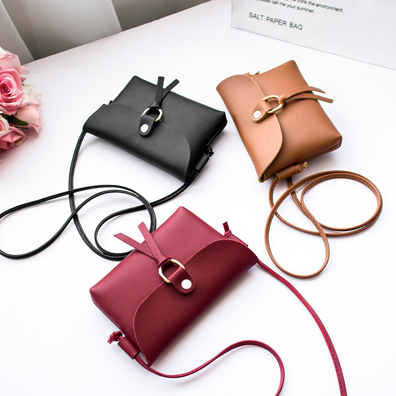 Mobile Phone Bag New Style Mini Bag New Style Package Cover Type Circular Ring Hanging Tassels Women's Shoulder Purse