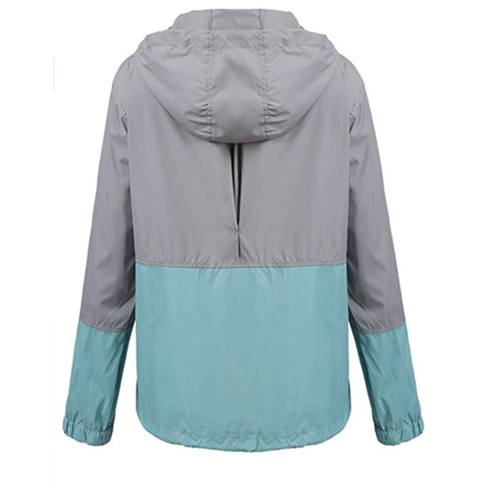Summer Autumn Womens Fashion Outerwear Windbreaker Woman Waterproof Rain Thin Jacket Zipper Hooded Casual Sporting Coat Big Size