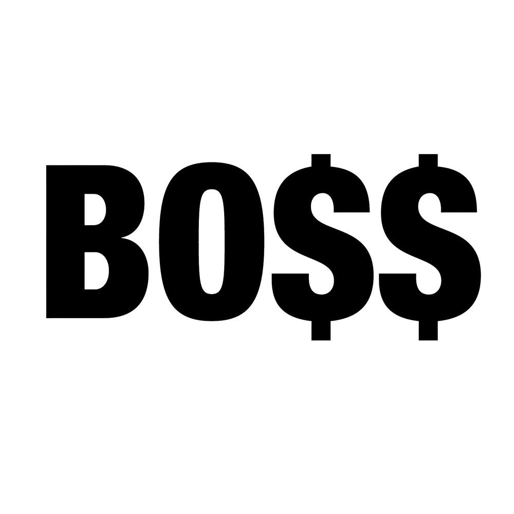 Boss Vinyl Sticker Bumper Window Fifth Harmonious Boss Rap Hip Hop Pop Body Decals Rear Window Car Sticker Car Decor(China)