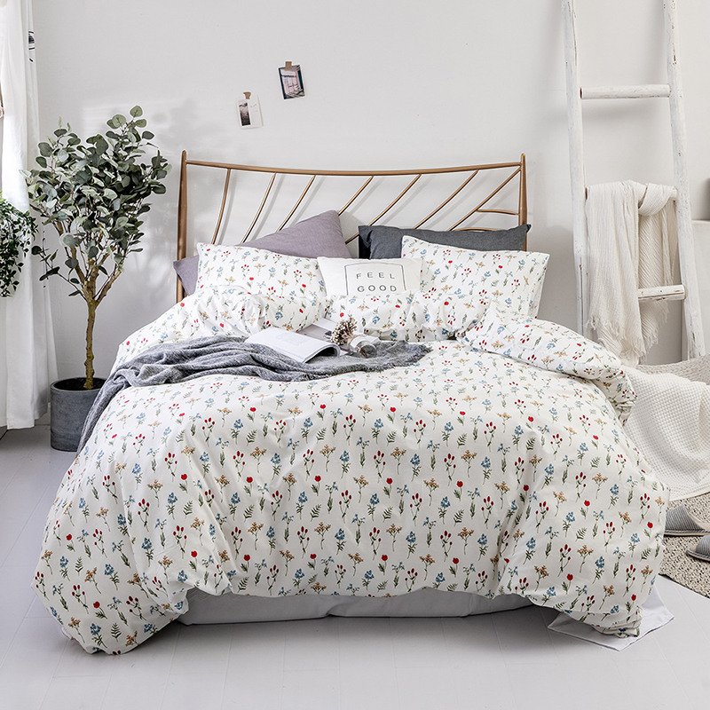 Modern Duvet Cover 2/3Pcs Bedding Set Cotton Multiple Printing Duvets Single Winter Bedlinen Comforters For Queen King Size Bed