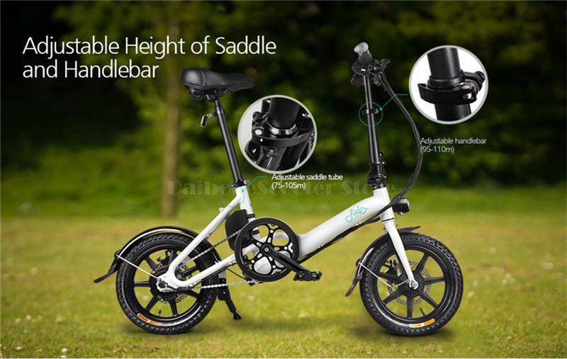 Fiido D3 Mini Electric Bike Two Wheels Electric Scooters 14 Inch 36V 250W Adults Portable Foldable Electric Bicycle With Seat (8)
