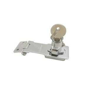 2.5 Inch Cylinder Hasp Copper Core Self Locking Security Staple 2 Keys Shed Cupboard/Drawer/ Padlock Door/Gate/Van Locker