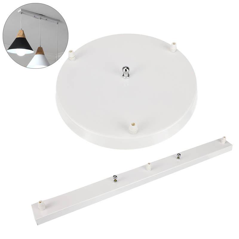 3 Holes DIY Ceiling Lamp Base Plate Chandeliers Light Fittings Round / Rectangular Lighting Accessories Pendant Lamp Base