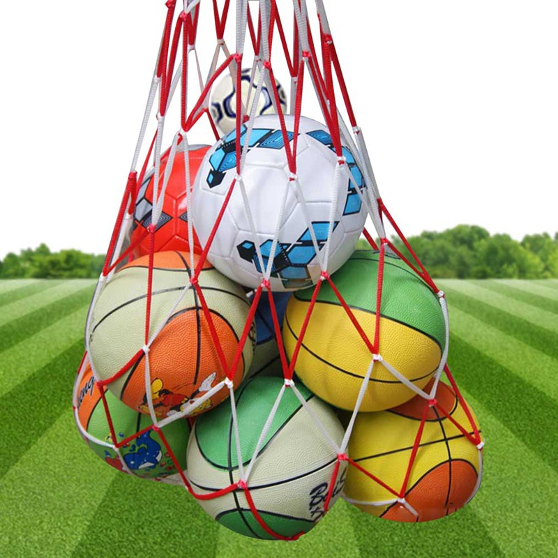1pcs 13 Balls Carry Net Bag Outdoor Sporting Soccer Net Portable Sports Equipment Basketball Volleyball Ball Net Bag