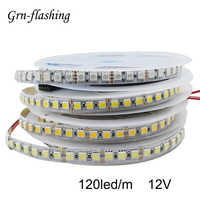 120LED/m 2m 3m 5m SMD 5050 LED Strip Light DC12V High Golden Yellow Warm White RGB LED Tape Ribbon Light TV Backlight Home Decor