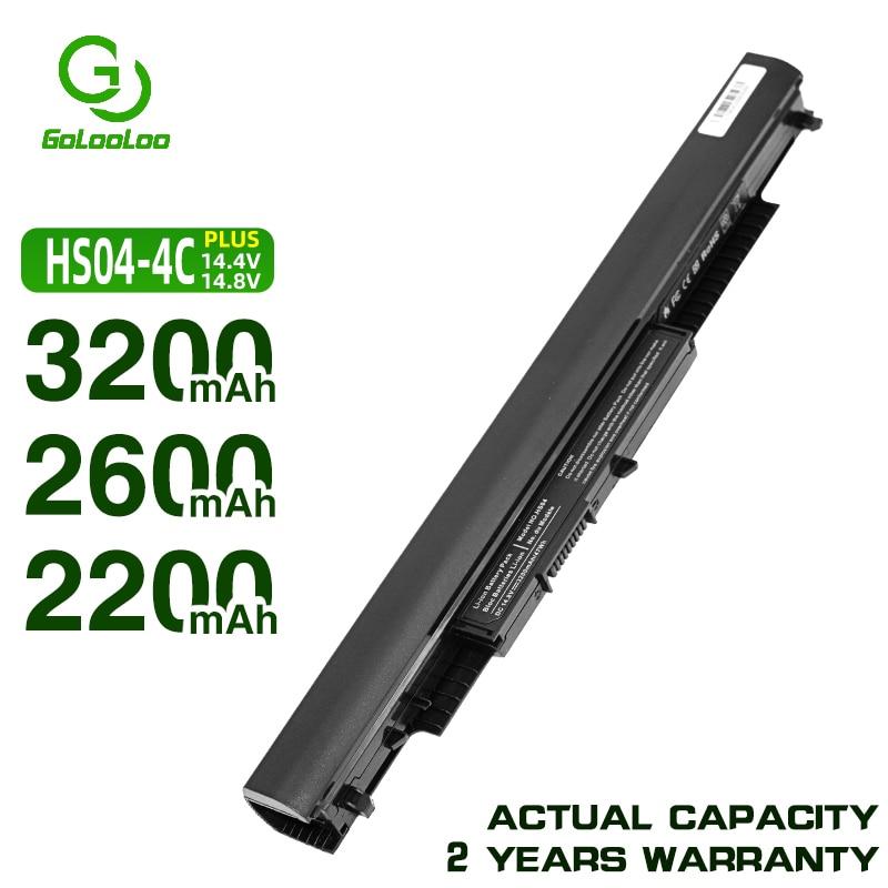 Golooloo 14.4V 4CELL HS04 Laptop Battery For HP Pavilion HSTNN-LB6V 14-ac0XX 15-ac0XX 255 245 250 G4 240 HS03 Hstnn Lb6v