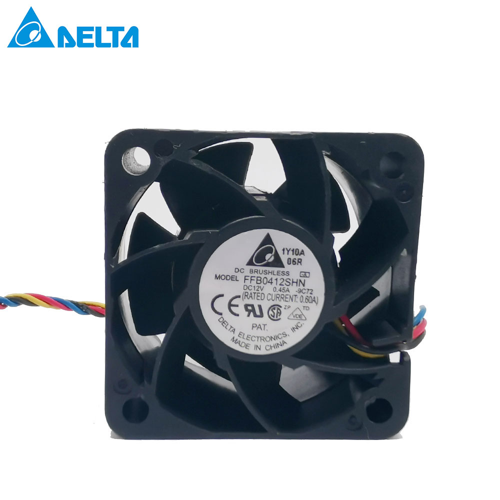Lot of 4 Delta FFB0412SHN 40mm x 28mm Extreme Speed Server Fan