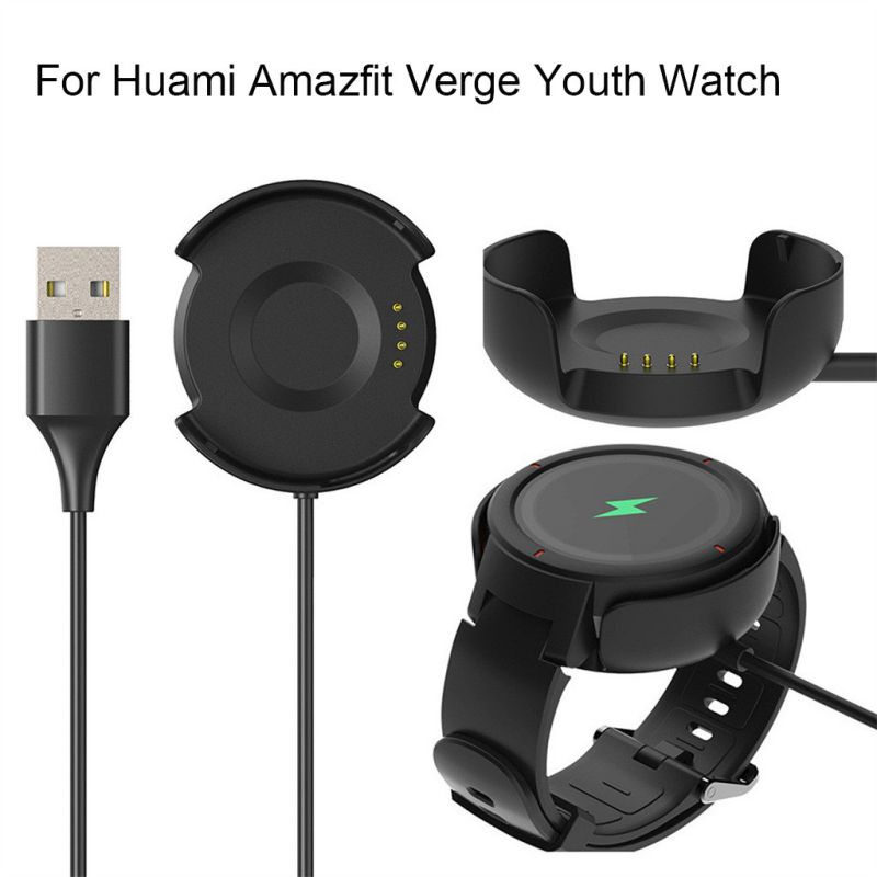 Universal USB Charger <font><b>Charging</b></font> Cable Dock For Xiaomi/<font><b>Huami</b></font> <font><b>Amazfit</b></font> Verge Youth Watch A1808 Sports Bracelet Accessories image