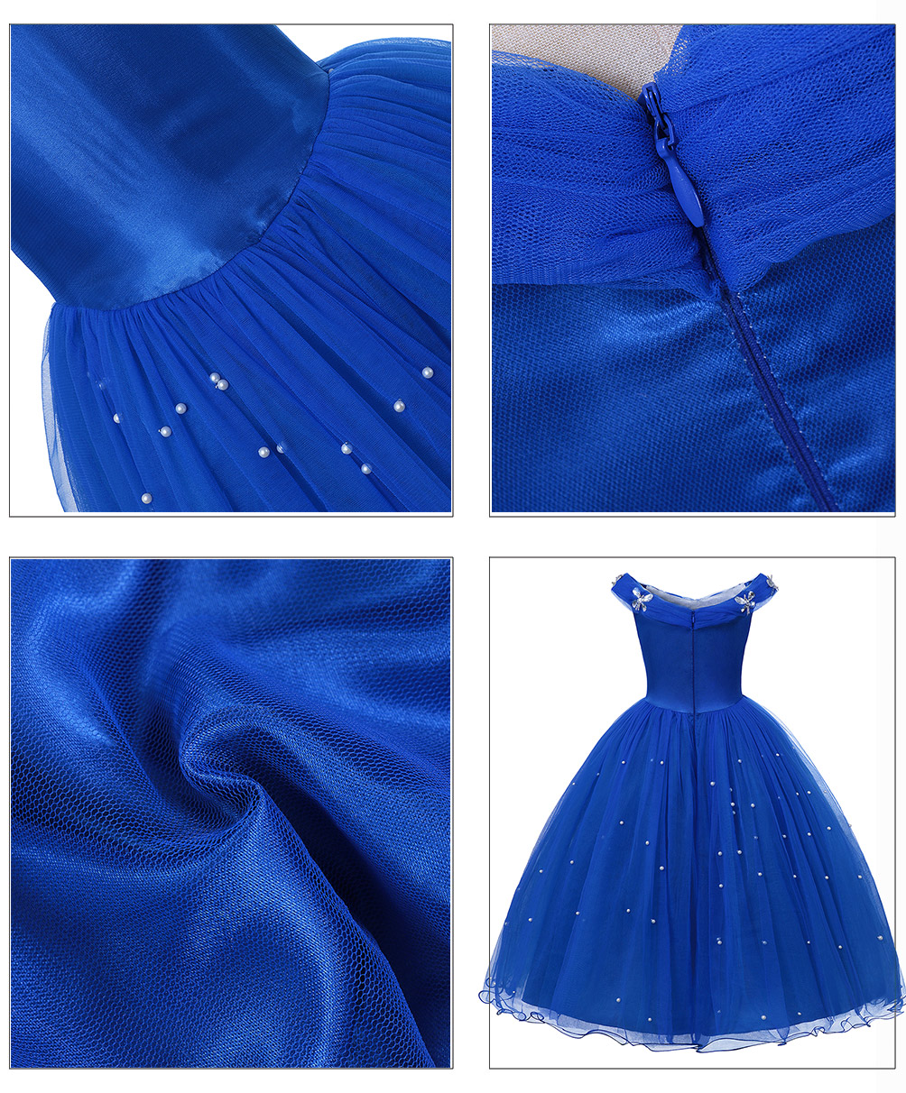H57f3769511fb455c998424ab79f5189fB - Fancy Baby Girl Princess Clothes Kid Jasmine Rapunzel Aurora Belle Ariel Cosplay Costume Child Elsa Anna Elena Sofia Party Dress