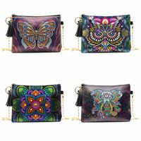 New Arrival 5D DIY Diamond Painting Butterfly Leather Crossbody Chain Bags DIY Diamond Embroidery Bag Wallet Pouch