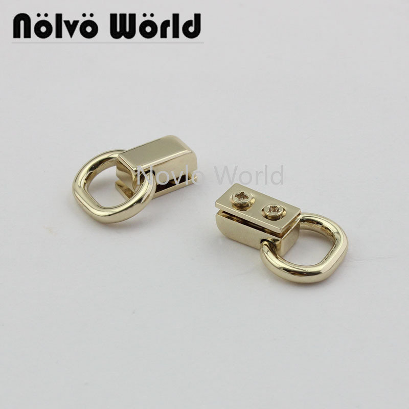 Wholesale 500pcs, Light Gold Metal Side Clip Hardware Handbag Purse Hanger Connector Accessories