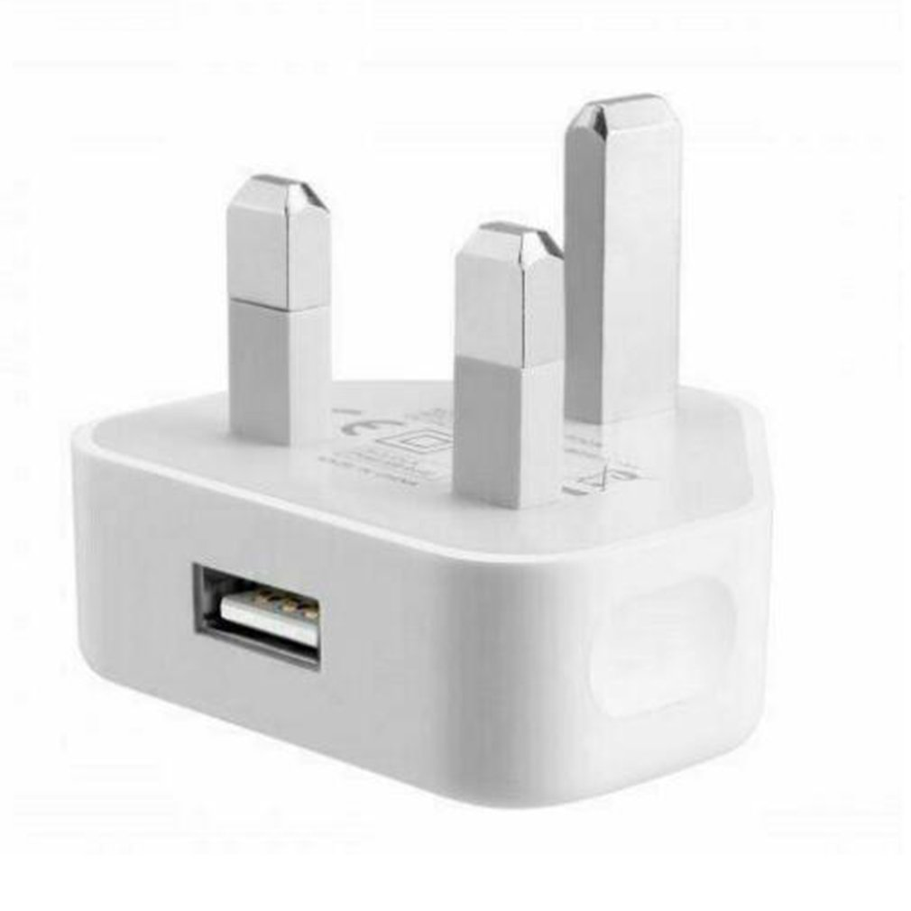 UK Mains Wall 3 Pin Plug Adaptor Charger Power With USB Ports for Phones Tablets for Samsung for iPhone
