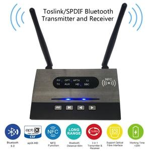 Image 5 - Bluetooth 5,0 Sender Empfänger Lange Palette NFC Audio Adapter AptX LL HD Optische 3,5mm RCA AUX Für TV /Home Stereo