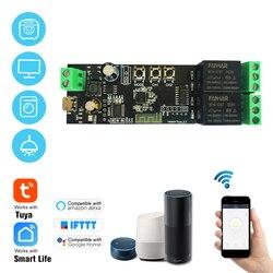 Tuya 2CH USB DC5V/7-32V WiFi переключатель, беспроводной релейный модуль, пульт дистанционного управления для Amazon Alexa Google Home