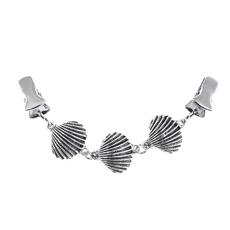 3 Stuk Trui Vest Broche Sjaal Eend Clip Kleding Decoratieve Shell Zeester Pin Broche Metalen Gesp