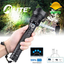 LED Flashlight Hunting-Lamp Powerful Usb Rechargeable Fishing Torch 18650 Zoomable Camping