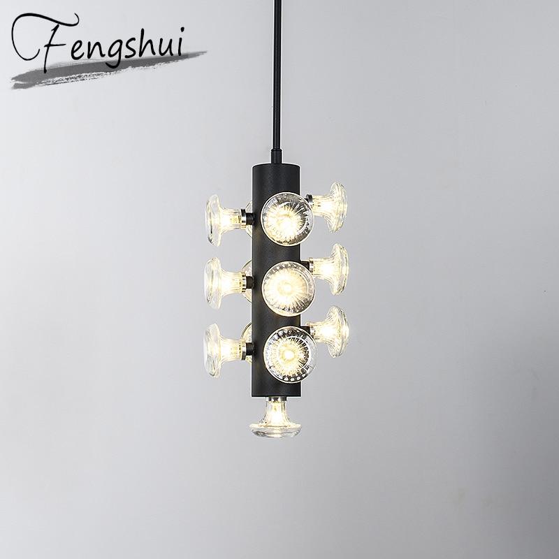American Iron Glass Pendant Lights Lighting LED Pendant Lamp Dining Living Room Bedroom Kitchen Fixtures Loft Decor Hanging Lamp Pendant Lights     - title=