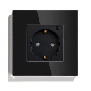 Image 2 - BSEED Wifi розетка стандарта ЕС умная розетка WIFI розетка белого, черного и золотого цвета 86*86 мм умный Wifi переключатель мониторинга
