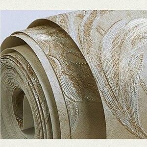 Image 5 - 3D тисненые текстурные обои Роскошные из натурального волокна Черные Серые Бежевые Коричневые нетканые обои для гостиной фоновая стена