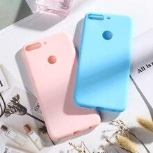 TPU Matte Case For Honor 7C Pro Silicone Candy Color Cover Huawei Nova 2 Lite Y7 Prime 2018 LND-L29 LND L29 5.99 Cases