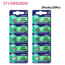10pcs Sony 45mAh 1.55V AG6 371 SR920SW LR920 171 370 L921 LR69 SR920 Button Batteries For Watch Toy Remote Cell Coin Battery