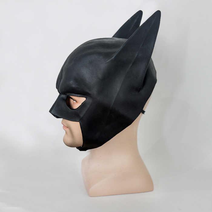 ใหม่ Batman หน้ากากอัศวินผู้ใหญ่ Full Overhead Bruce Wayne หมวกกันน็อกยาง Cowl เครื่องแต่งกาย