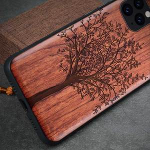 Image 2 - Natural Wood Case For Samsung Galaxy Note 20 Ultra Note 10 S10 S20 Plus 100% Wood Case For iPhone 12 11 Pro 7 8 Plus X XR XS Max