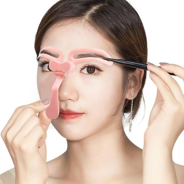 Hot Sell Makeup Eyebrow Stencils Professional Beauty Template Tools Eyebrow Cosmetic Drawing Shaper Kit Grooming L9I2 3