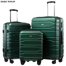 Cabin Trolley Luggage-Bag Pc-Case Travel-Suitcase Carry-Ons Wheels 20inch ABS New 3pcs-Set