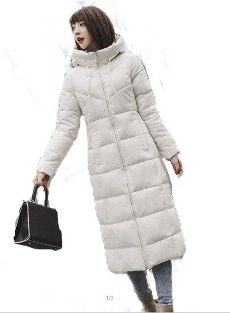 S 6XL jesienno zimowa damska Plus rozmiar moda bawełniane puchowe kurtki z kapturem długie parki ciepłe kurtki damskie zimowe ubrania