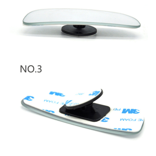2Pcs Car Arc Wide-angle Rearview Mirror Clear Slim Blind Spot Reversing Glass Convex Rear View Mirror Parking Mirror for SUV Car