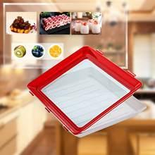 Bandeja criativa da preservação do alimento para manter o recipiente da preservação do alimento para manter a caixa de armazenamento fresca do espaçador refrigera da preservação do alimento