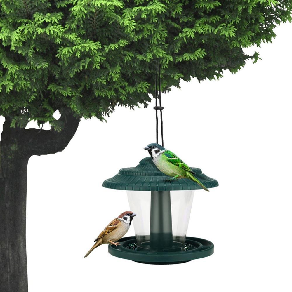 2PCS Bird Feeders Hanging Wild Garden Bird Seed Feeder Hanging Feeders for Small Birds Garden Outdoors Feeding