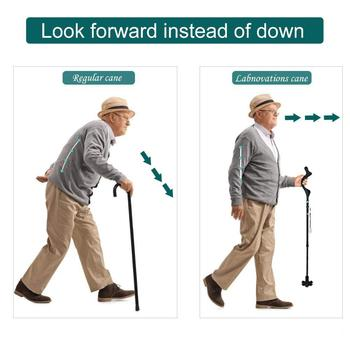 Adjustable Folding Walking Stick Aluminum Alloy Walking Stick Collapsible Travel Hiking Cane Poles Elderly Walking Stick anxiaokang safe reliable old man crutches non slip old man s stick telescopic four legged cane walking stick tips for elderly