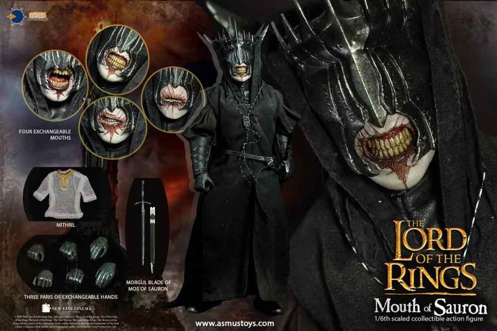 Asmus zabawki LOTR009S 1/6 skala władca pierścienia usta SAURON zabawki figurki akcji