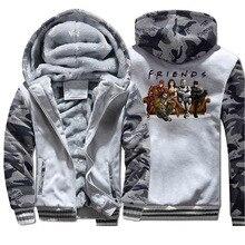 Мстители друзья куртки супер герой мужские толстовки толстовка на молнии зимние толстые флисовые теплые пальто супер герой камуфляжная спортивная одежда