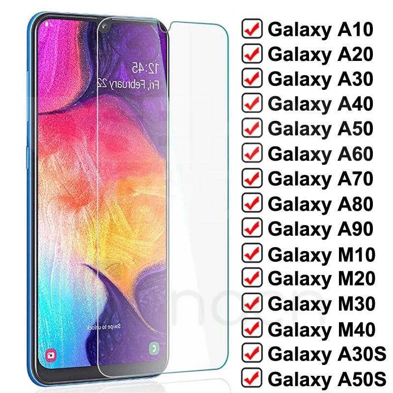 9D Защитное стекло для Samsung Galaxy A10 A20 A30 A40 A50 A60 A70 A80 A90 закаленное стекло Samsung M10 M20 M30 M40 пленка для экрана