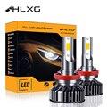 F3 H1 9005 HB3 9006 HB4 H4 H11 H7 LED CSP mini 6000K 4300K H8 H16 9012 9007 H13 headlight bulb 12V 16000LM Auto car light HLXG