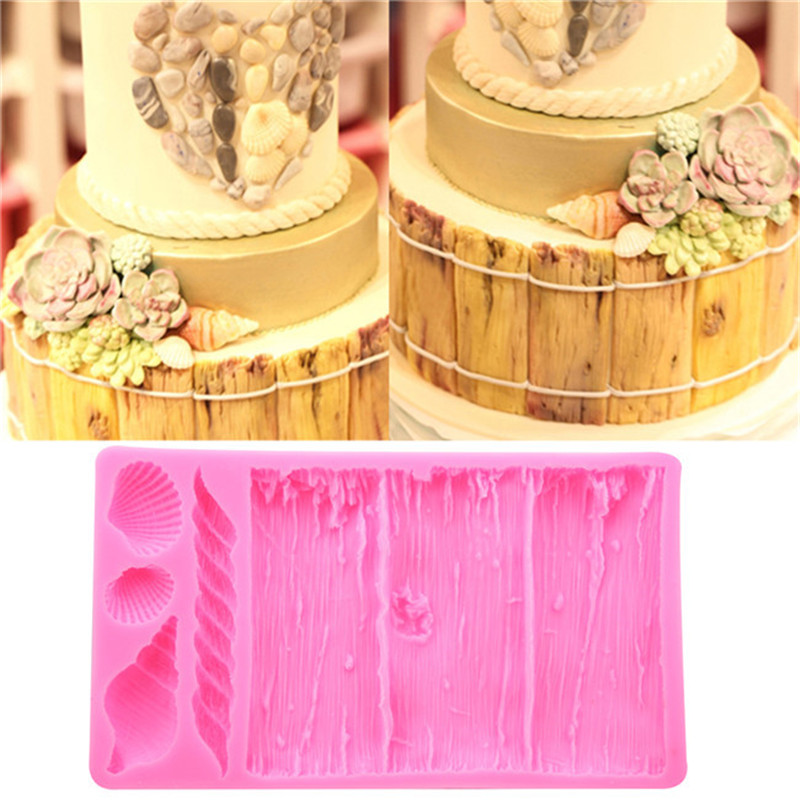 3D Tree Bark Texture Line Cake Mold Silicone Fondant Mold Cake Decorating Tools  Food Grade Texture Kitchen Accessories|Cake Molds| |  - title=
