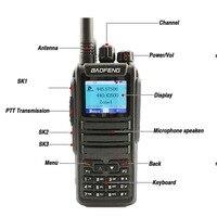 """מכשיר הקשר 2pcs Baofeng DM-1701 Digital מכשיר הקשר 10 ק""""מ אנלוגי Woki טוקי CB רדיו DMR רדיו Comunicador Dual Band Dm 1701 מקמ""""ש (2)"""